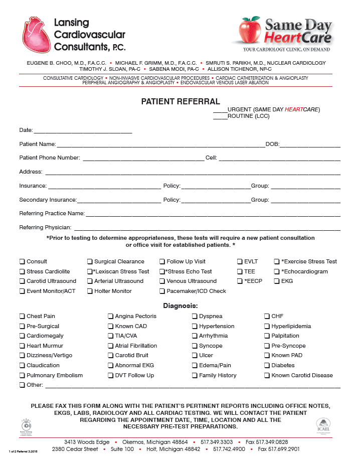 Patient Central - Referral Form